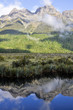 Mirror lakes, Milford Sound (New Zealand)