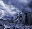 Leinwandbild Motiv Gloomy apocalypse landscape
