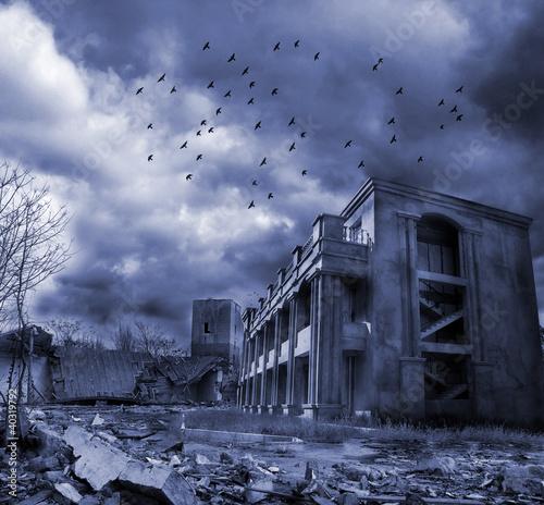 Gloomy apocalypse landscape - 40319792