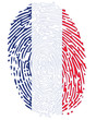 Thumbprint  Flag Colors of France