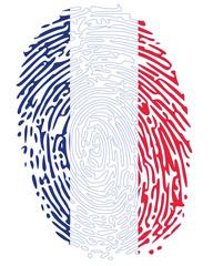 Thumbprint  Flag Colors of France