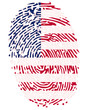 Thumbprint  Flag Colors of United States of America