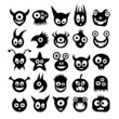 Set of funny monster icons.