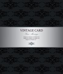 Luxury silver vintage card