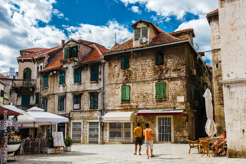 Colorful Old Town of Split in Croatia