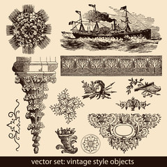 vintage style objects