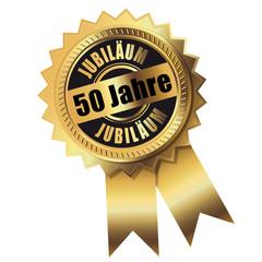 50 Jahre - Jubiläum gold
