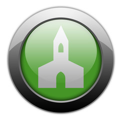 "Green Metallic Orb Button ""Chapel"""