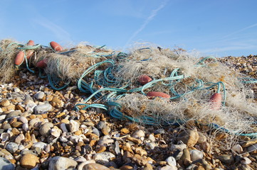 Washed Up Fisherman's Net