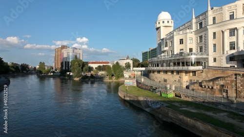 Urania observatory at the Danube canal in Vienna