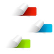 Set of multicolored sticker labels. Web icons
