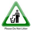 Please do not litter sign, vector illustration