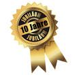 10 Jahre - Jubiläum gold