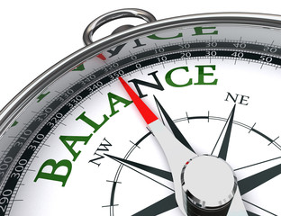 balance compass conceptual image