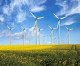 Fototapety Eco power, wind turbines