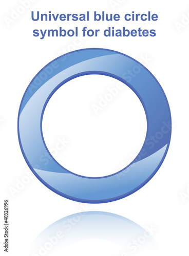 Universal blue circle symbol for diabetes