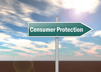 "Signpost ""Consumer Protection"""