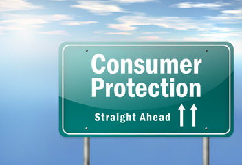 "Highway Signpost ""Consumer Protection"""