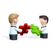 Zwei Geschäftspartner mit Puzzle