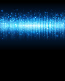 Abstract blue waveform vector background eps 10