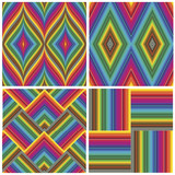 Set of seamless art deco textures and pattern - 40328321
