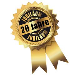 20 Jahre - Jubiläum gold