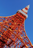 Tokyo Tower - replica of Eiffel Tower in Paris, France poster