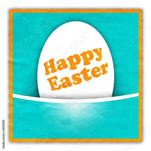 Easter greeting card with egg