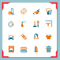 Cleaning icons | In a frame series