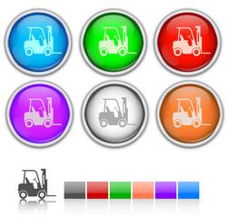 Renkli nakliye aracı ikon seti