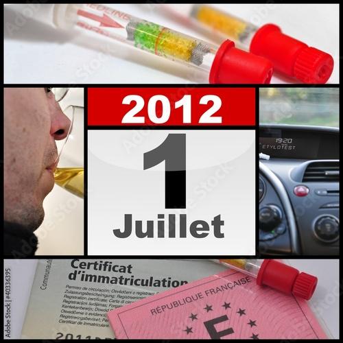 Réforme Ethylotest juillet 2012
