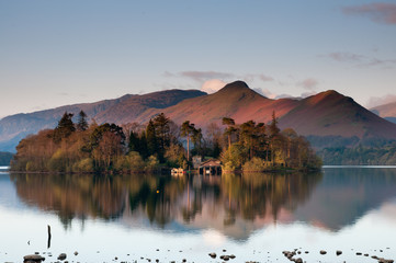 Derwent Waterand , Lake District National Park, England.