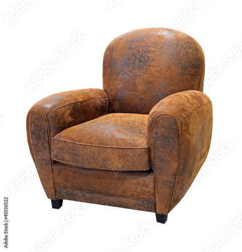 Old leather armchair
