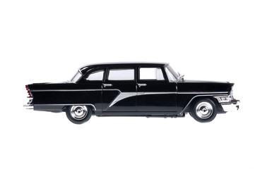 Black retro big car for business class.