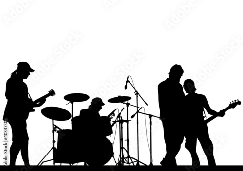 Rock musical band - 40337302