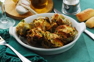 Carciofi ripieni Stuffed artichokes 酿朝鲜蓟