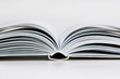 Pages open a thick book