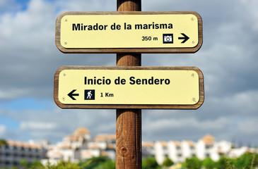 Senderismo en las marismas de Huelva
