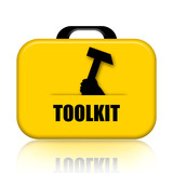 Toolkit case with hammer