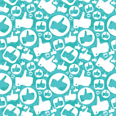 seamless pattern with like signs