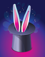 bright magic hat wit rabbit's ears