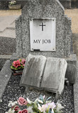 my job, wrote on an old tomb