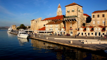 Trogir harbor at sunrise, Dalmatia