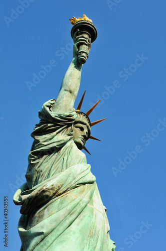 Side view of the Statue of Liberty