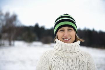 Mid adult woman smiling, portrait