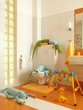 Child colorful bathrom with toys