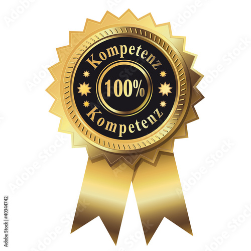 100% Kompetenz - Gold Button