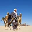 Désert Tunisien : Homme et ses dromadaires