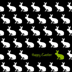 Happy Easter Silhouetten