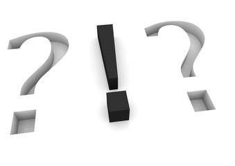 Frage- und Ausrufezeichen